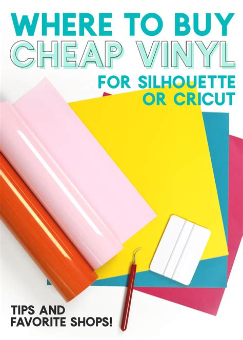 Where To Buy Cheap Vinyl And Supplies For Your Silhouette