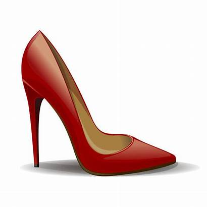 Shoes Vector Background Cartoon Heels Shoe Isolated