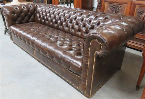 chesterfield sofa brown leather brown leather chesterfield sofa at 1stdibs