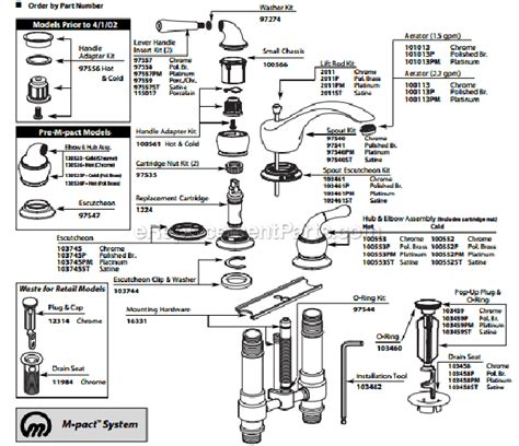 Moen Monticello Tub Faucet Diagram by Moen T4560 Parts List And Diagram Ereplacementparts
