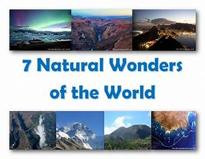 7 Natural Wonders Of The World Map