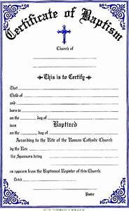 Free printable baptism certificates template update234com template update234com for Catholic baptism certificate template
