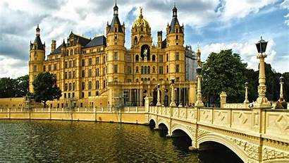 Palace Schwerin Castle Wallpapers Germany Europe Mecklenburg