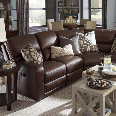 Grey Living Room Brown Sofa by Awesome Reclining Living Room Furniture 4 Brown Leather