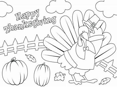 Coloring November Pages Thanksgiving Happy