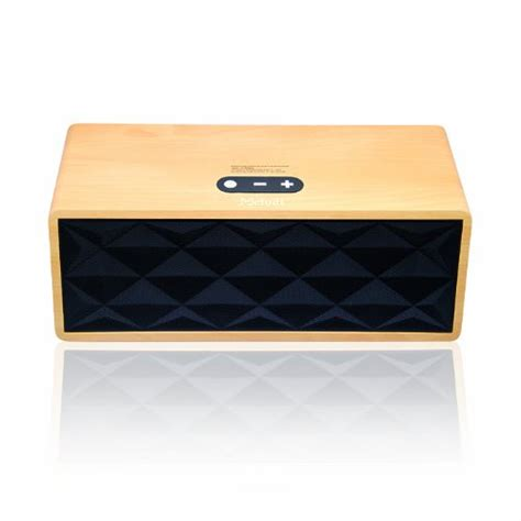 wireless bluetooth speaker wooden portable heavy bass