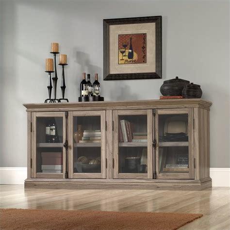 Credenza Tv Stand - sauder barrister storage credenza salt oak tv stand