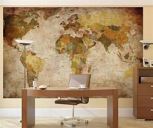 Carte Du Monde Deco : poster mural g ant carte du monde mappemonde avis et comparatif ~ Teatrodelosmanantiales.com Idées de Décoration