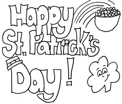 happy st patricks day coloring sheets printable kids