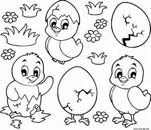 Coloriage De Paque : coloriage poussins et oeufs paques maternelle dessin ~ Melissatoandfro.com Idées de Décoration
