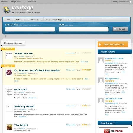 vantage premium business directory wordpress theme