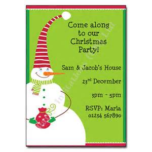 snowman christmas party invitation christmas invites