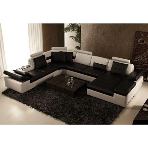 canape cuir en u canapé d 39 angle panoramique en cuir monaco canapés en u