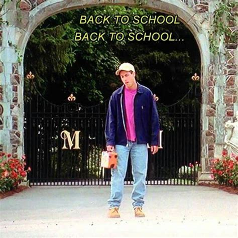 Billy Madison Back To School Meme - lol back to school back to school lol love billy madison love adam sandler celebrities