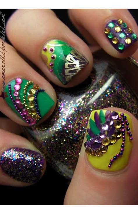 mardi gras nail designs mardi gras nails how to style