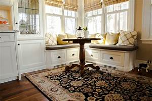 Woodecor Custom Painted Kitchen and Banquette Woodecor