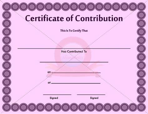 Contribution Templates by 30 Best Images About Contribution Certificate Templates On