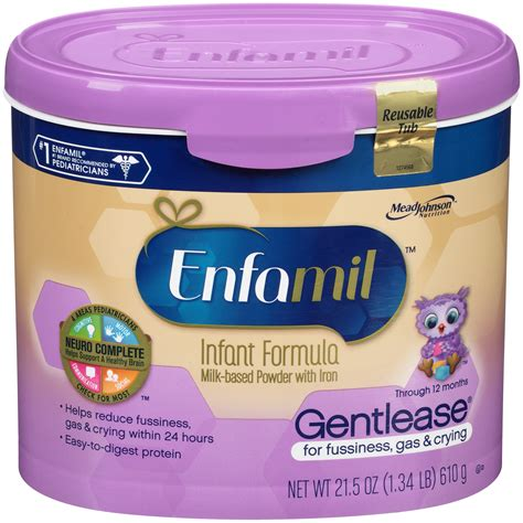 Enfamil Gentlease Infant Formula For Fussiness Gas For