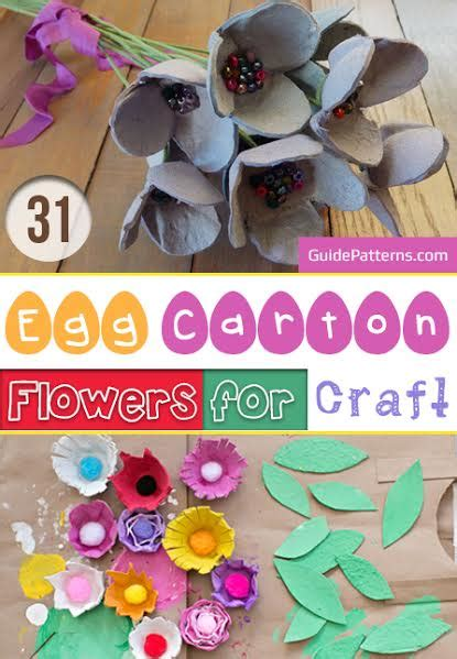 egg carton flowers  craft guide patterns