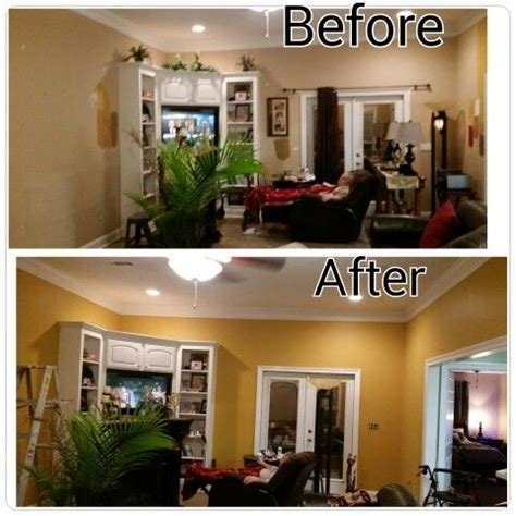 Painted my living room ..Amber Brew is color by Behr