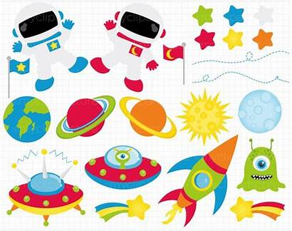 Space Clipart Outer Clip Border Galaxy Spaces