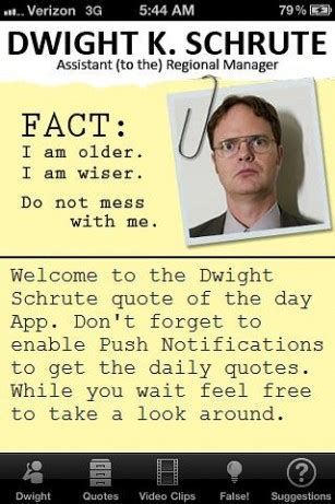 Dwight Schrute Resume Quote by Dwight Schrute The Office Quotes Quotesgram