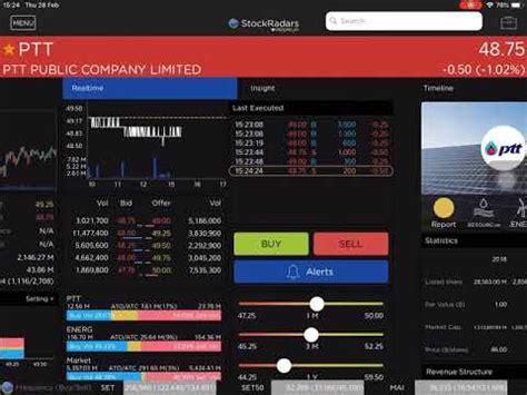 เรียนรู้จักหน้า Quote หุ้น Real-time จากแอป StockRadars ดู ...