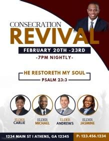 church revival flyer template free customize 2 950 church flyer templates postermywall