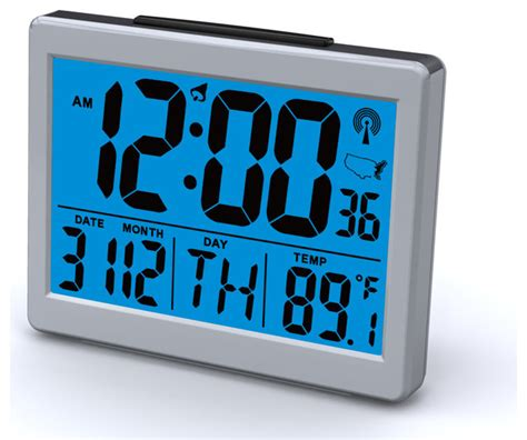 Bedroom Radio Alarm Clocks by Sonnet Atomic Bedroom Alarm Clock With 1 5 Quot High Time