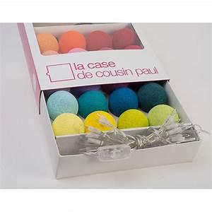 Guirlande Lumineuse Boule Ikea : latest guirlande lumineuse de boules en coton multicolore with guirlande lumineuse chambre boule ~ Teatrodelosmanantiales.com Idées de Décoration