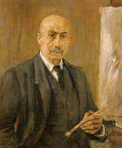 Self-Portrait with palette, 1912 - Max Liebermann ...