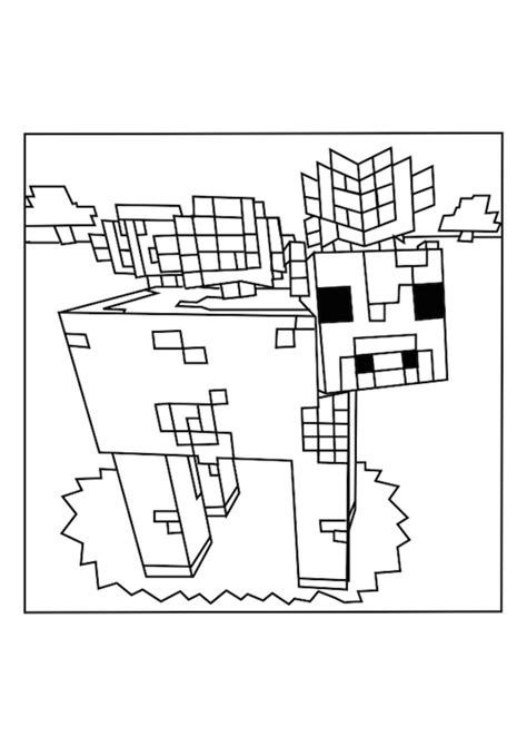 Minecraft Ender Dragon Kleurplaten.Minecraft Monsters Free Coloring Pages
