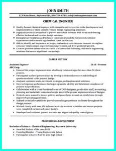 entry level chemical engineer resume chemical engineer phd resume