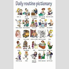 Pictionary Daily Routines
