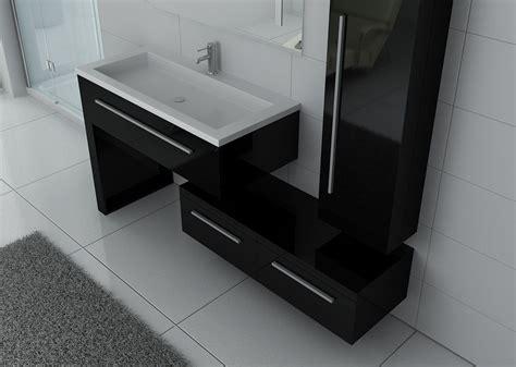 meuble de salle de bain noir laque meuble simple vasque meuble de salle de bain noir dis9251n