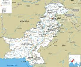 Pakistan Map - Road Map of Pakistan Pakistan
