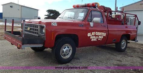 1980 Chevrolet C20 Custom Deluxe fire truck   no reserve