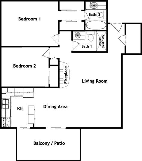 2 bedroom 2 bath apartment floor plans 2 bed 2 bath house