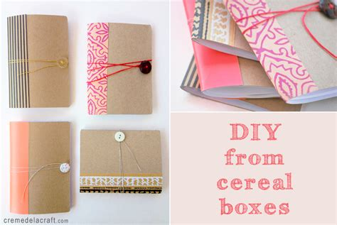 diy craft diy mini notebook from a cereal box