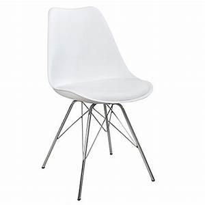 Stuhl Weiß Chrom : retro designklassiker stuhl scandinavia meisterst ck weiss stuhlbeine aus chrom retro stuhl ~ Indierocktalk.com Haus und Dekorationen
