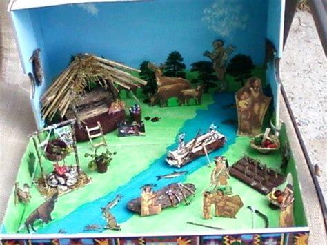 seminole shoebox diorama   eastern woodlands