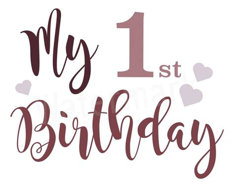 Free svg files for all your diy projects. My First Birthday SVG One Year Old SVG Happy First ...