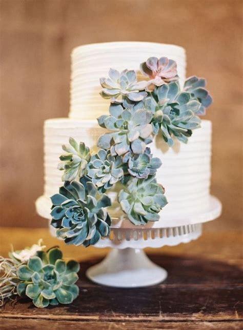 adorable wedding cakes  succulents emmalovesweddings