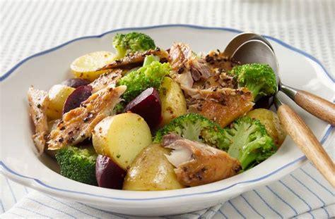 warm potato salad  smoked mackerel recipe goodtoknow