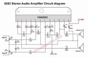 Stereo Audio Amplifier Using Cd6283  Tda6283