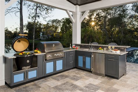 outside kitchen design ideas l shaped outdoor kitchen design inspiration danver 3885