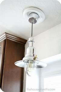 Pendant lights for recessed cans : New kitchen lighting converting a can light with