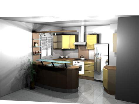 cuisine ouverte bar ambiance cuisine meubles contarin