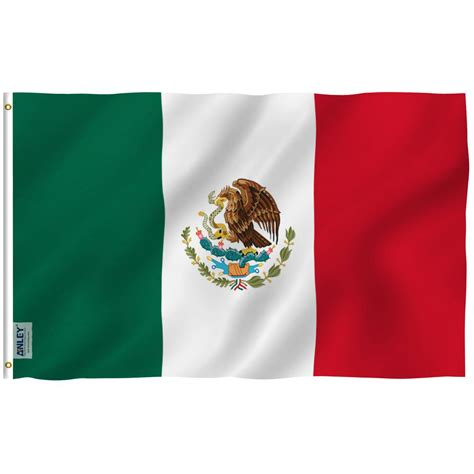 ANLEY Fly Breeze 3 ft. x 5 ft. Polyester Mexican Flag 2 ...