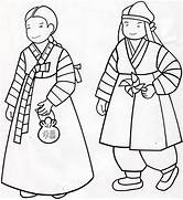 hanbok coloring page korean coloring lessons pinterest coloring pages a emblem of south